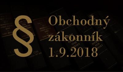 Obchodný zákonník 1.9.2018