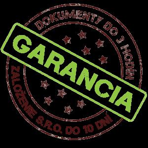 garancia založenia s.r.o.