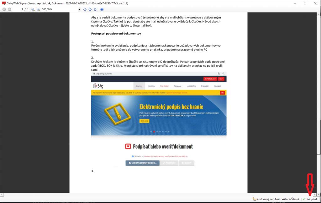 Krok 9 Elektronicke Podpisovanie Dokumentov Podpisat