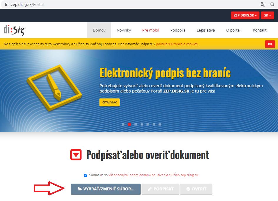 Krok3 Elektronicke Podpisovanie Dokumentov Vybrat Subor