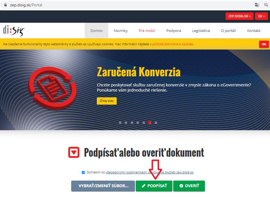 Krok4 Elektronicke Podpisovanie Dokumentov Podpisanie Suboru