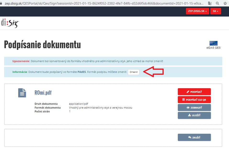 Krok5 Elektronicke Podpisovanie Dokumentov Zmena Formatu