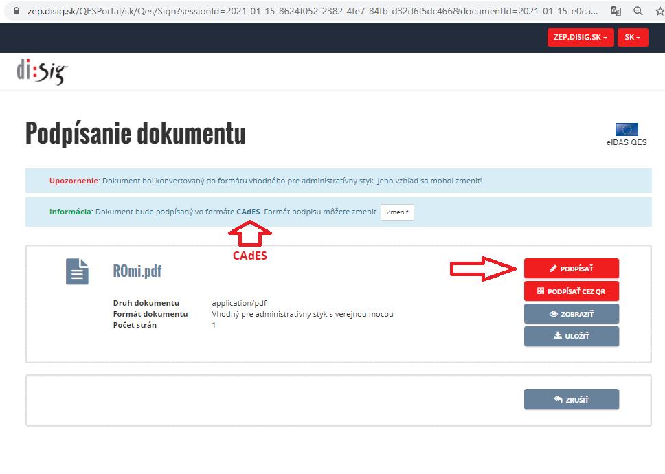 Krok7 Elektronicke Podpisovanie Dokumentov Podpis