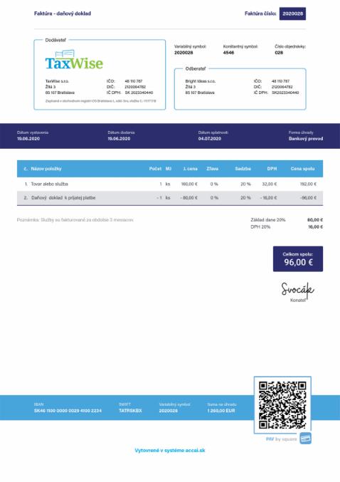 online fakturacia dokument
