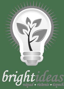 Brightideas logo čiernobiele